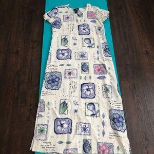 Full length linen dress
